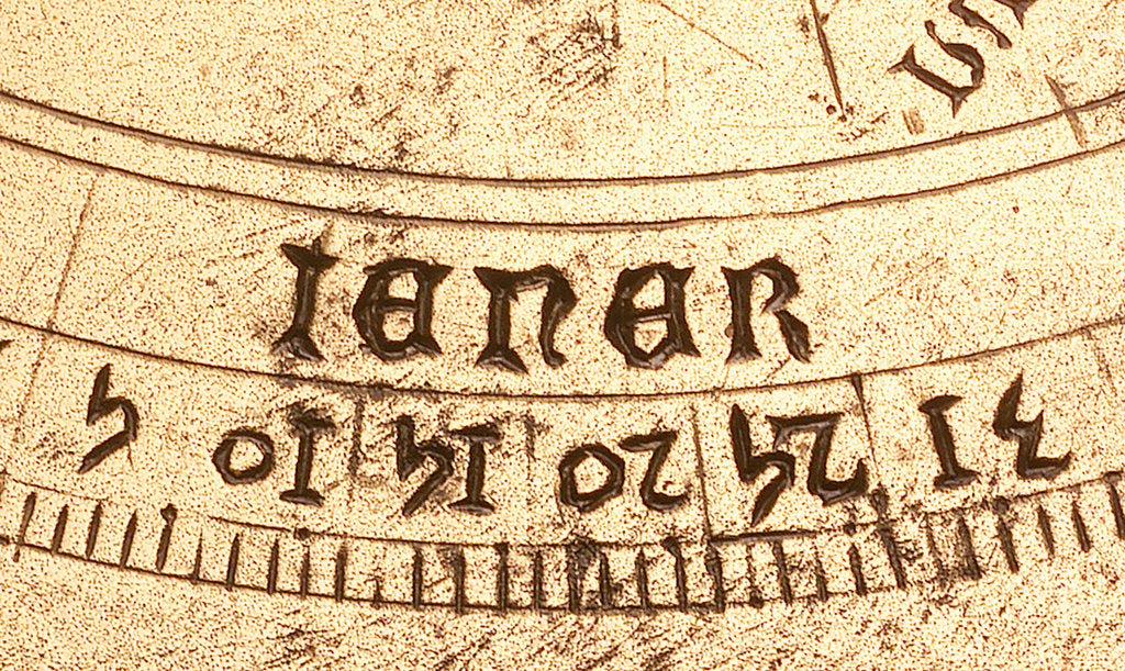 Detail of Astrolabe: detail of mater, 'iener' by unknown