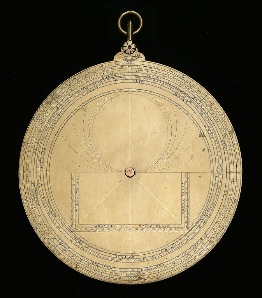 Detail of Astrolabe: mounted reverse by unknown