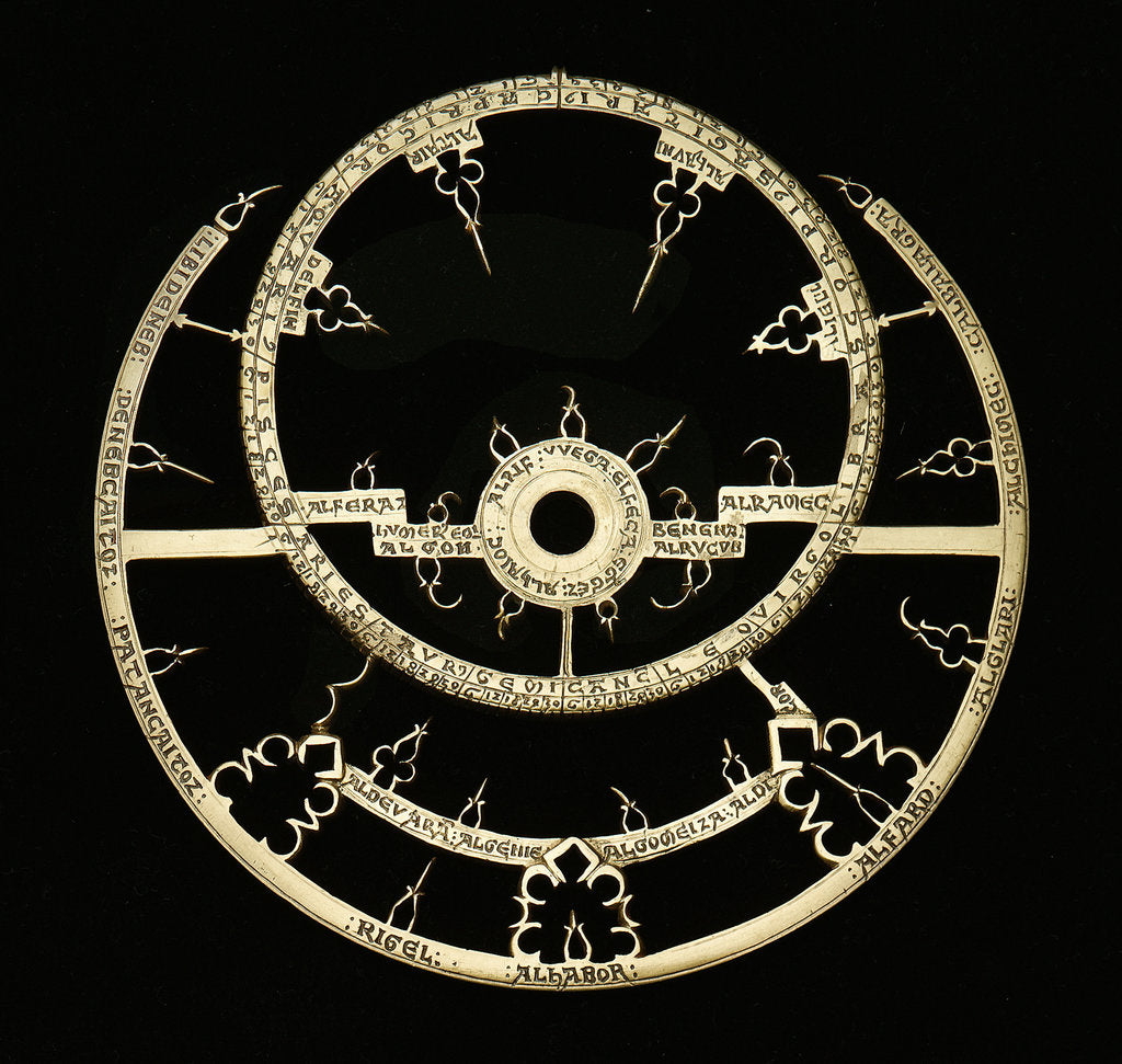 Detail of Caird Astrolabe: rete by unknown