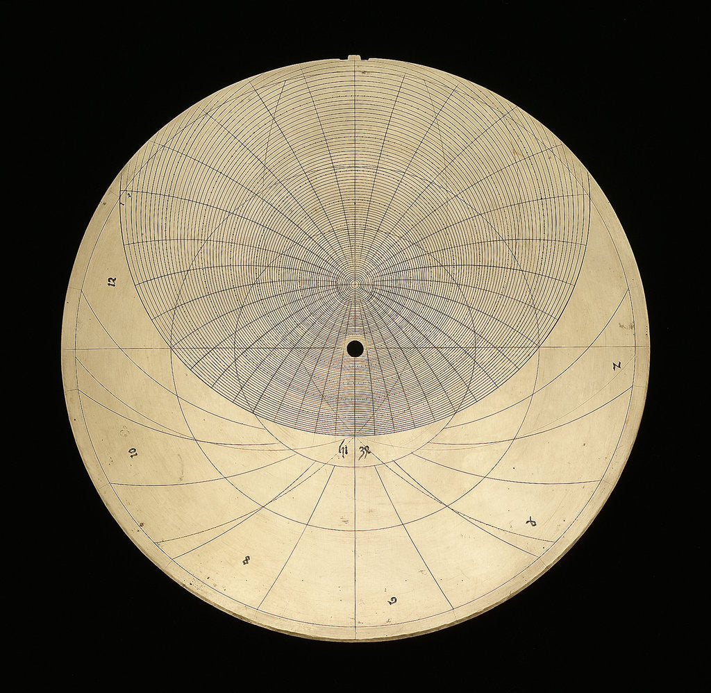 Detail of Astrolabe:  plate for latitude 51 by unknown