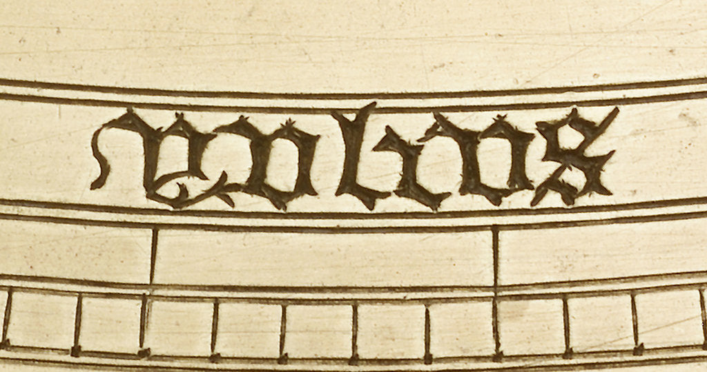 Astrolabe: detail of word 'yulius' by unknown