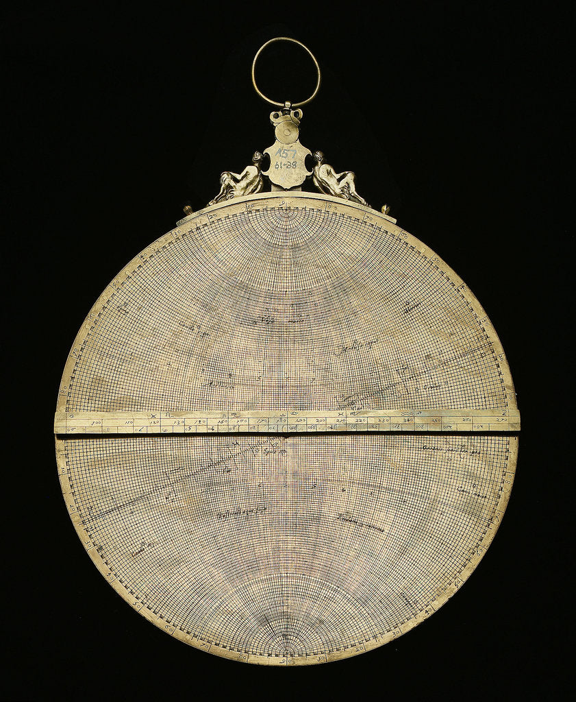 Detail of Astrolabe: mounted reverse by Adrian Descroli