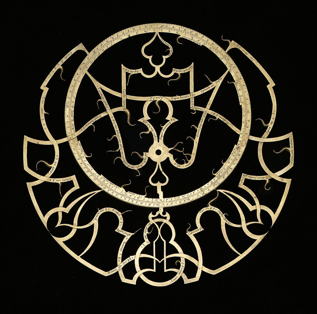 Detail of Astrolabe: rete by Adrian Descroli