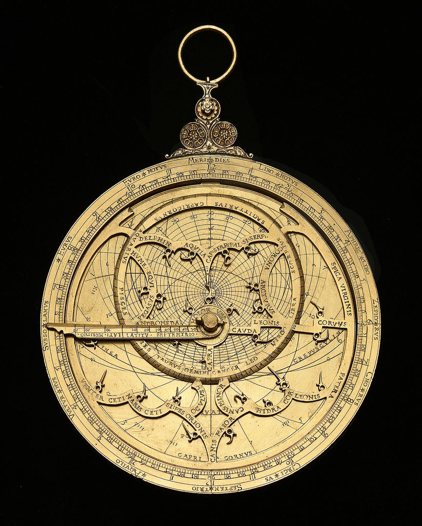 Detail of Astrolabe: mounted obverse by Georgius Hartmann