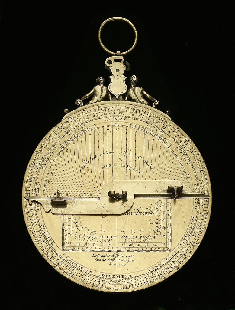 Detail of Astrolabe: mounted reverse by Ferdinand Arscenius