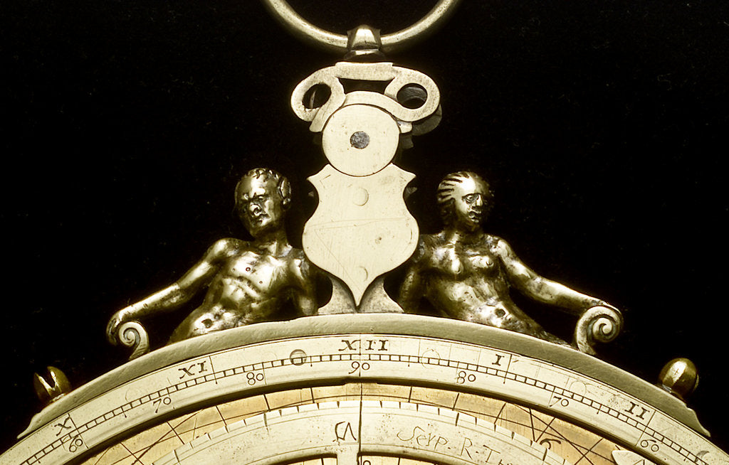 Detail of Astrolabe: detail of throne by Ferdinand Arscenius