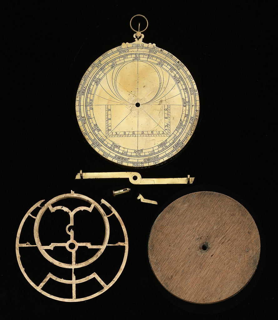 Detail of Astrolabe: dismounted reverse by unknown