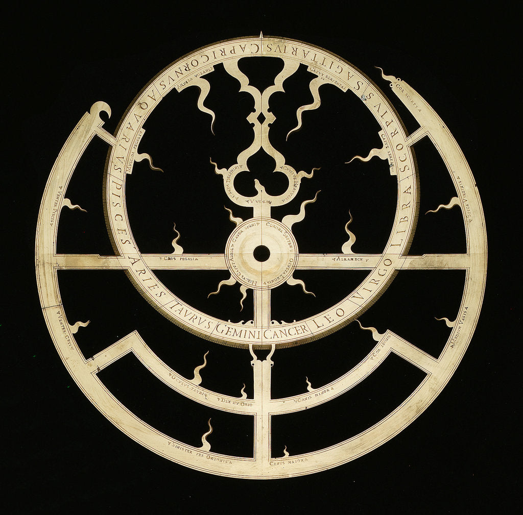Detail of Astrolabe: rete by unknown