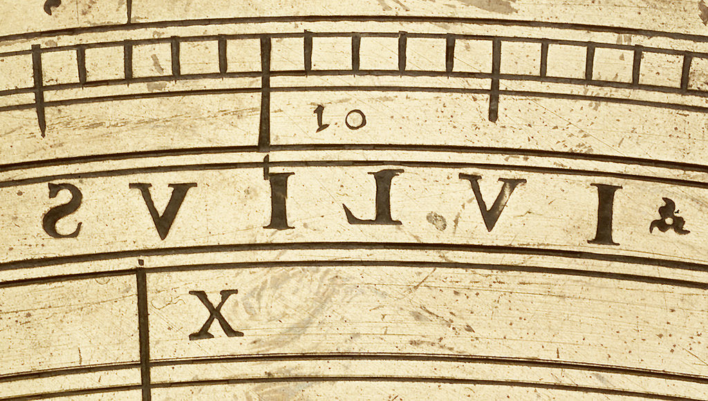 Detail of Astrolabe: detail of inscription 'julius' in reverse by unknown