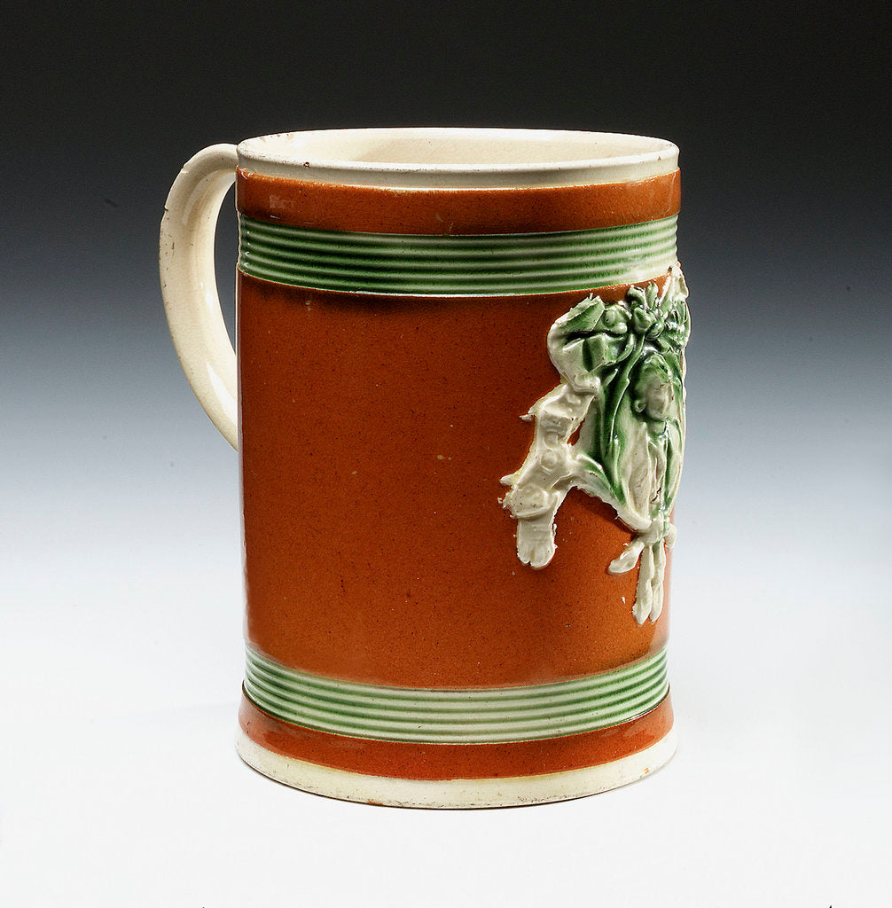 Mug with a portrait of Admiral Sir George Brydges Rodney (1719-1792) by unknown