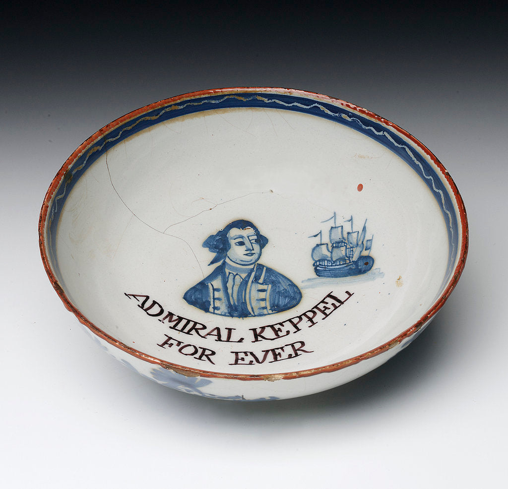 Detail of Lambeth delftware bowl by unknown