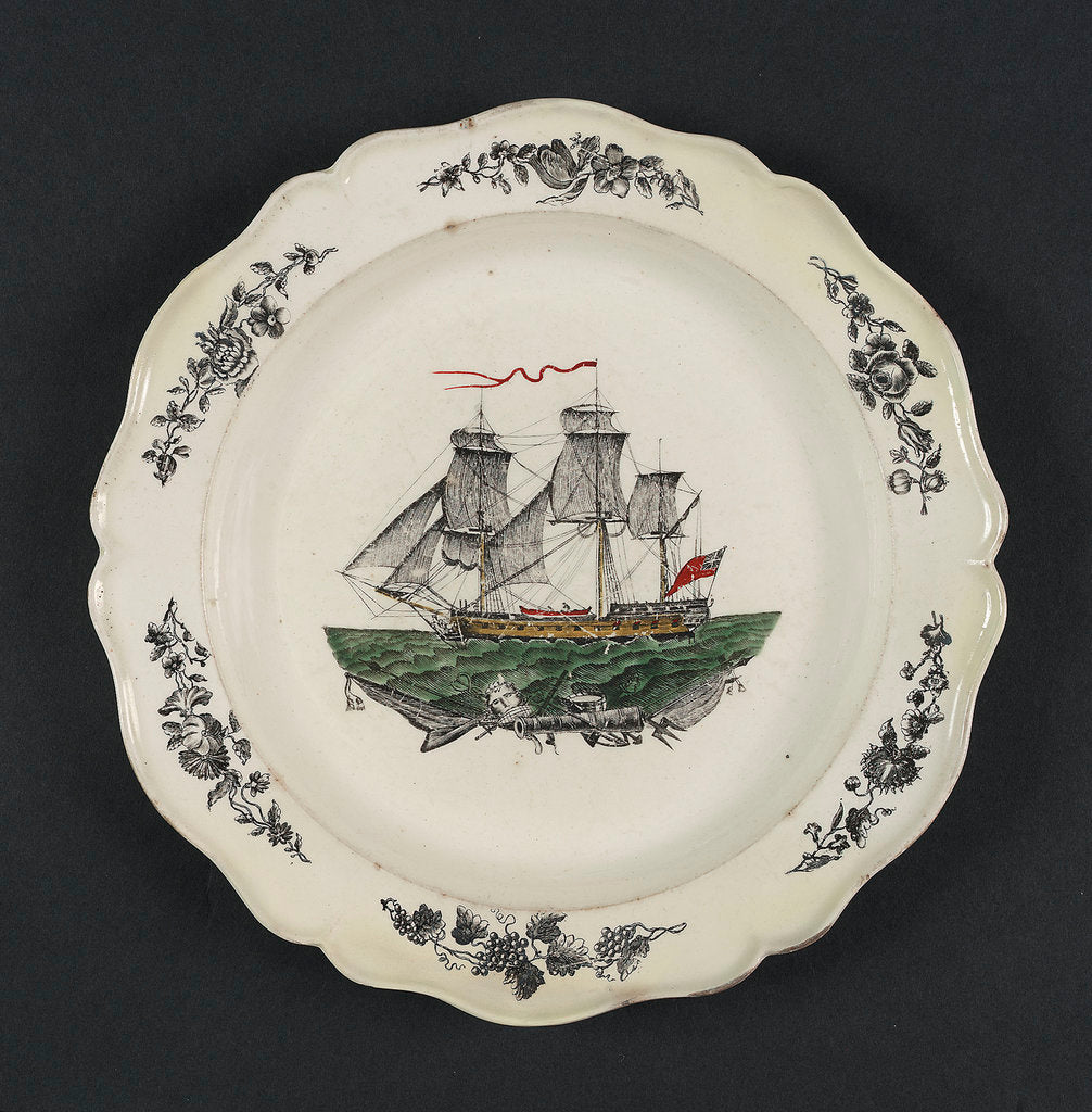 Detail of Creamware plate by unknown