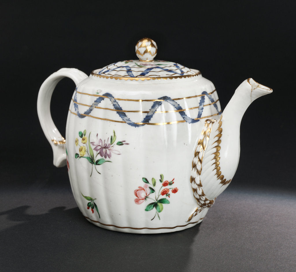 Detail of Teapot with lid and stand by Richard Champion