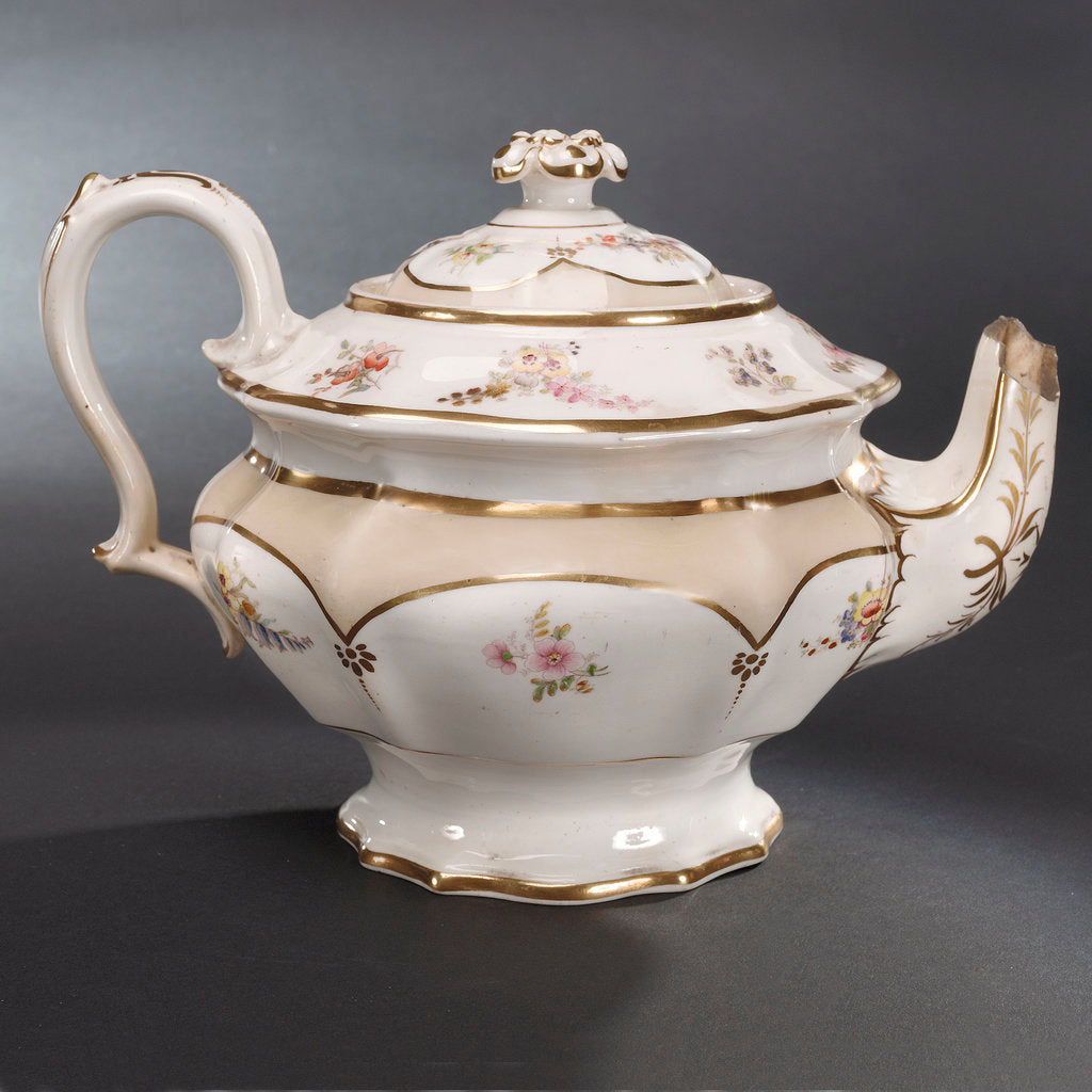 Detail of Teapot, part of a teaset said to have been used by Emma, Lady Hamilton by unknown