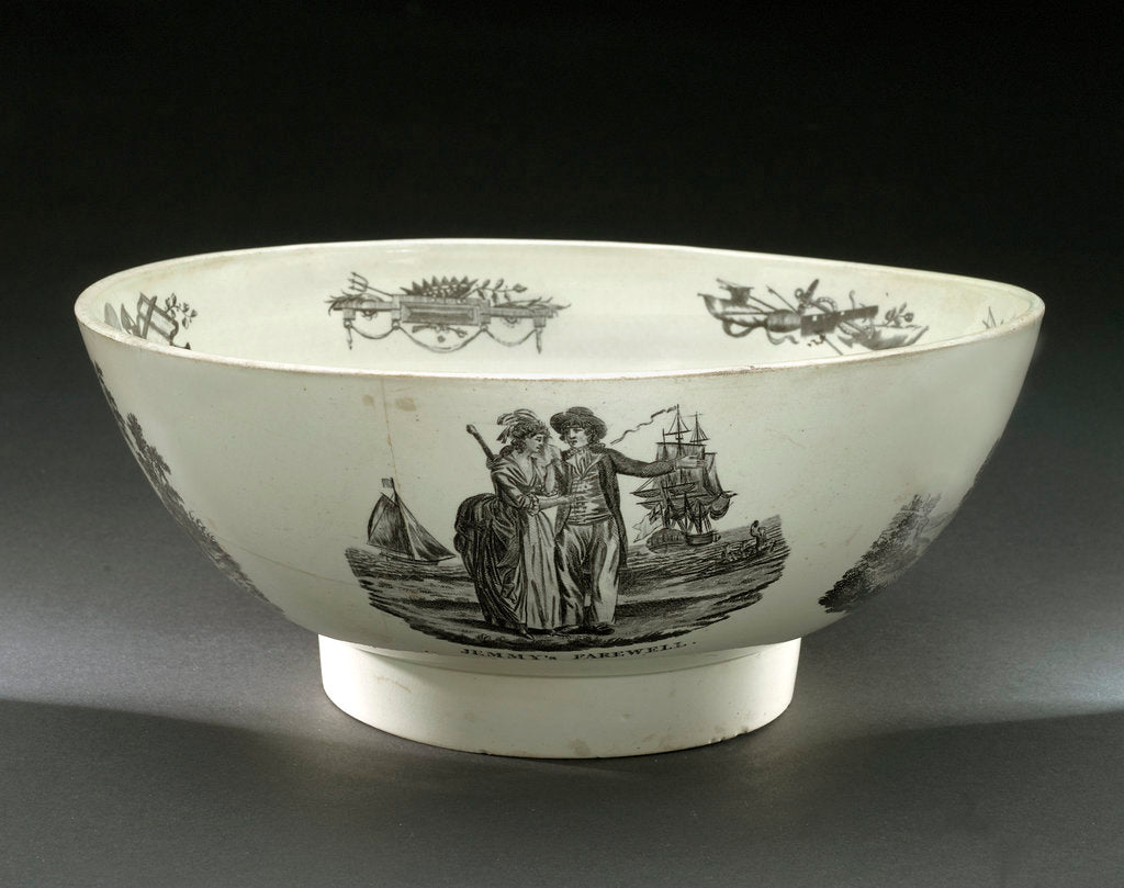 Detail of Creamware bowl by unknown