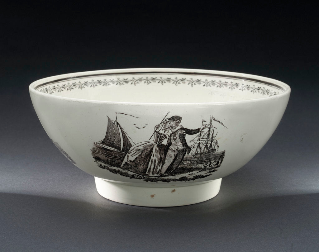 Detail of Creamware bowl by Josiah Wedgwood & Sons Ltd.