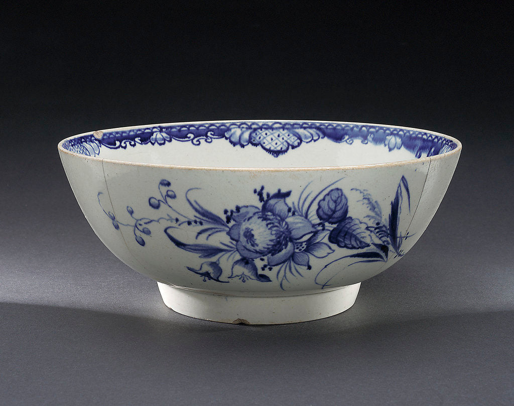 Detail of Hand-painted bowl by Pennington
