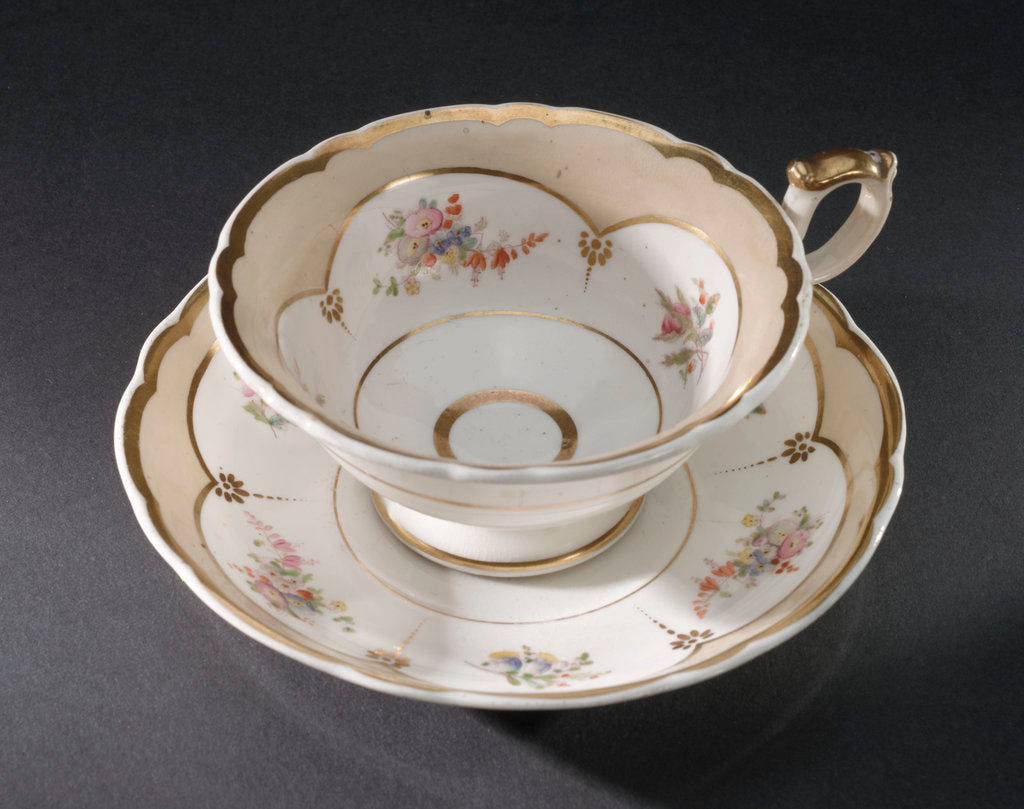Detail of Cup and saucer, part of a teaset said to have been used by Emma, Lady Hamilton by unknown