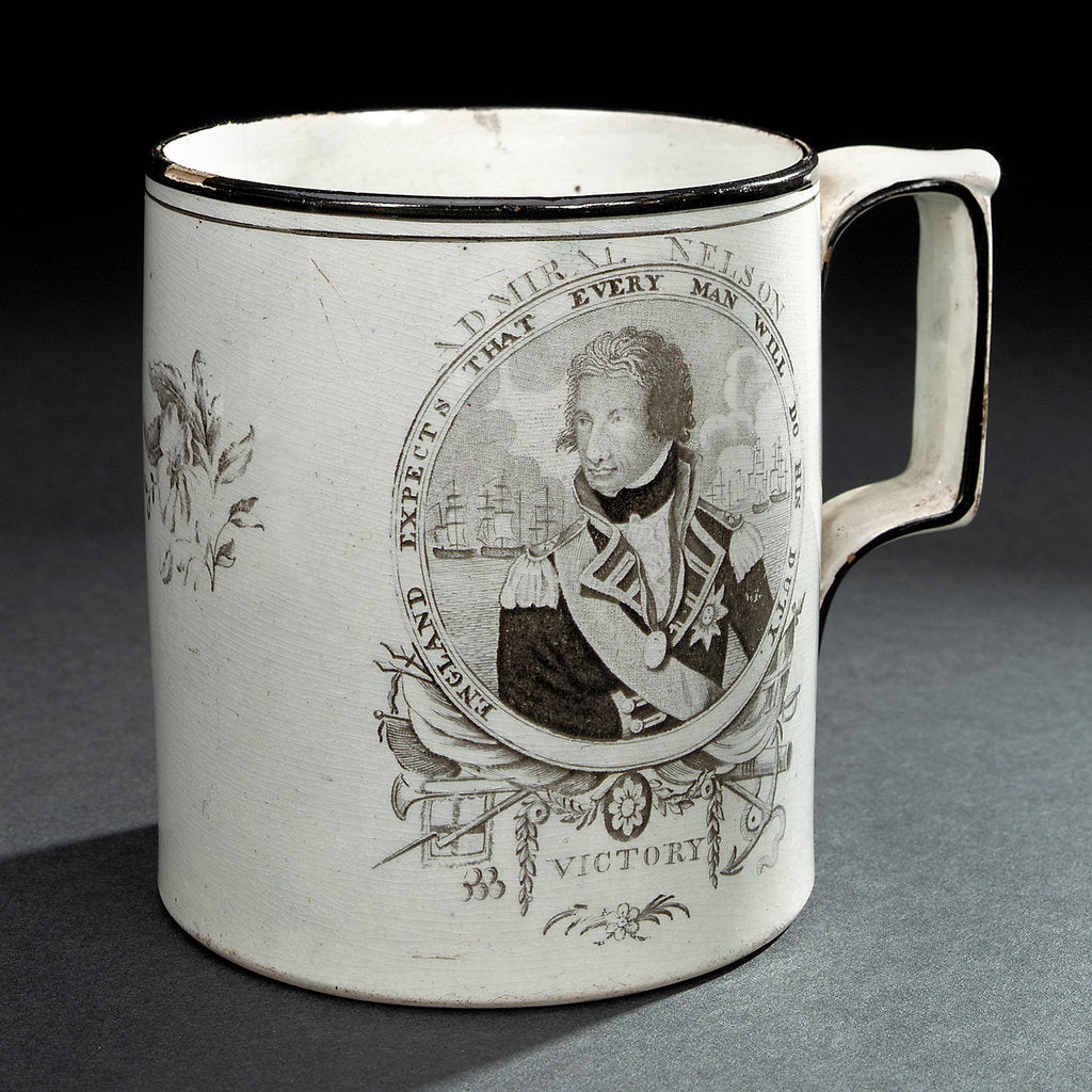 Detail of Creamware mug by unknown