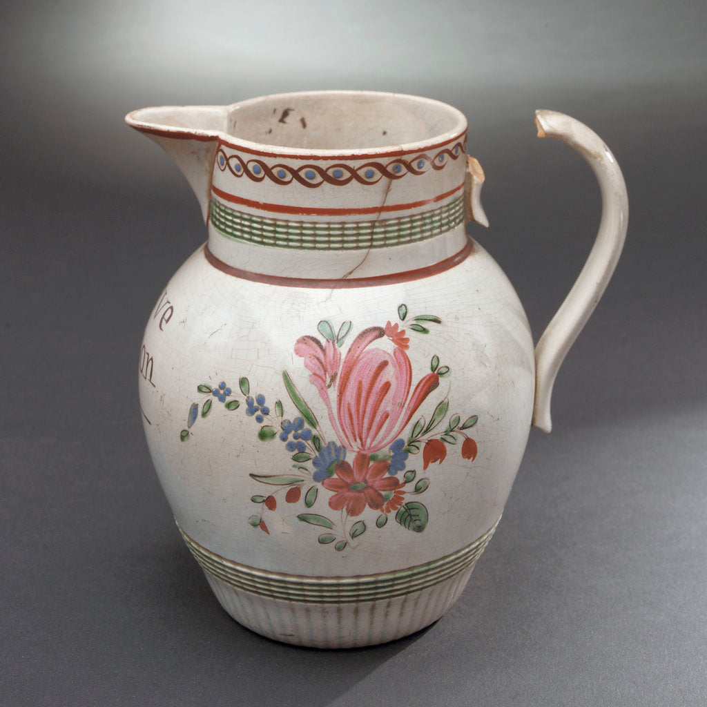 Detail of Earthenware jug by unknown
