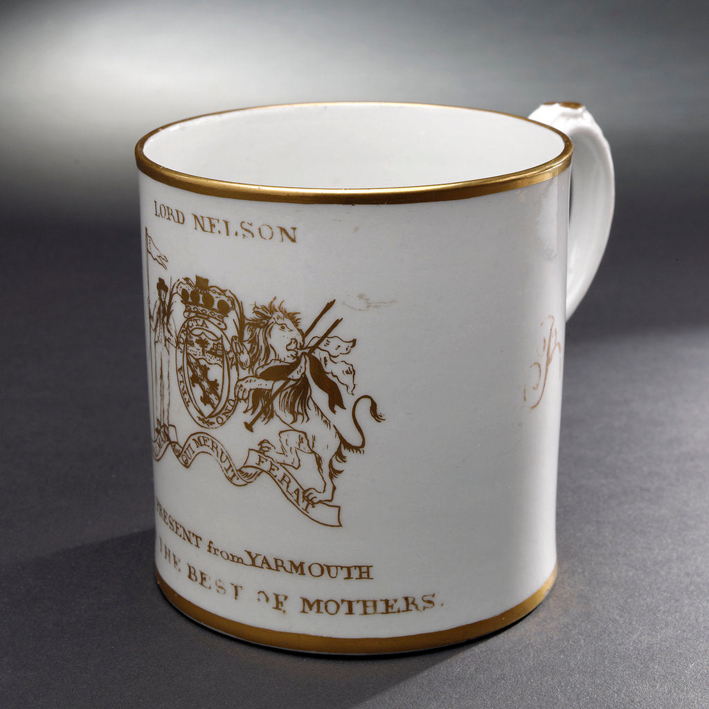 Detail of Porcelain mug by William Absolon