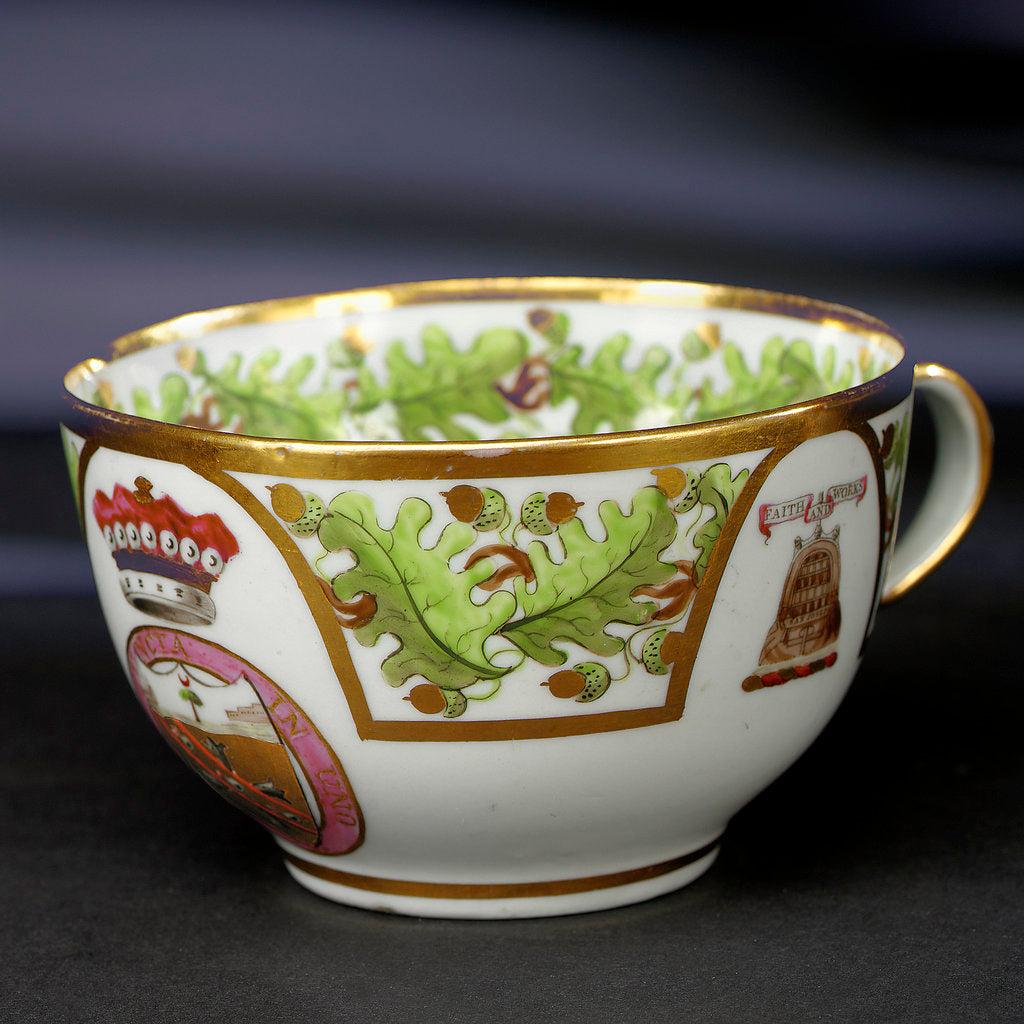 Detail of Teacup by John Rose & Co.