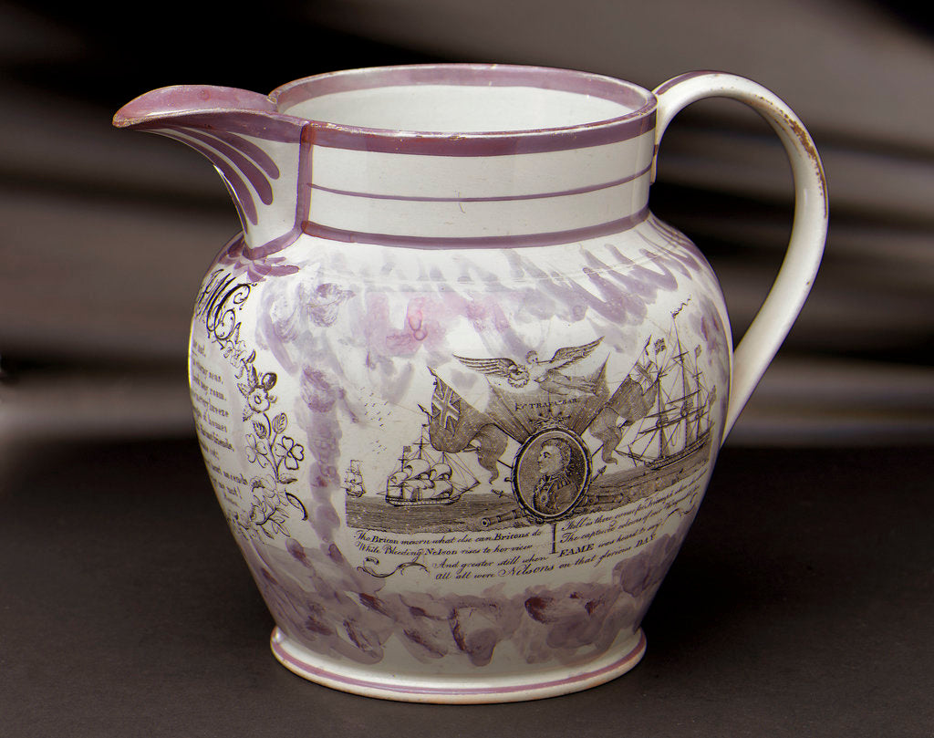 Detail of Lustre jug by Dixon & Co.