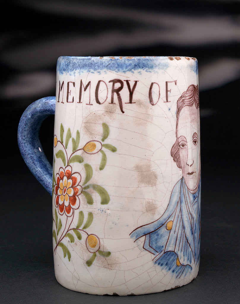 Detail of Delftware mug by unknown
