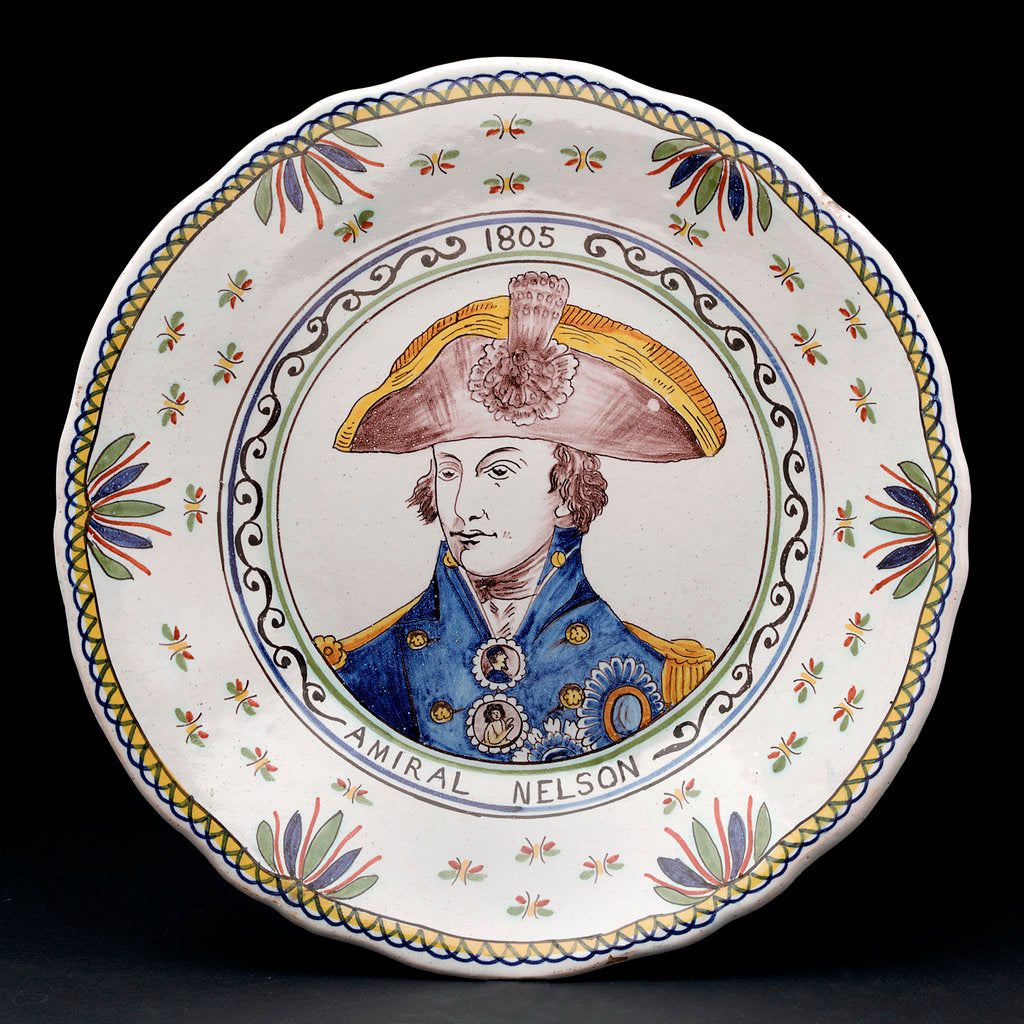 Detail of Delftware plate by unknown