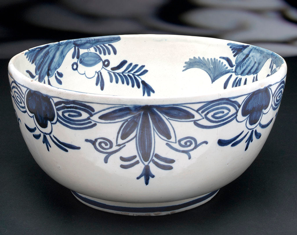 Detail of Delftware bowl by unknown