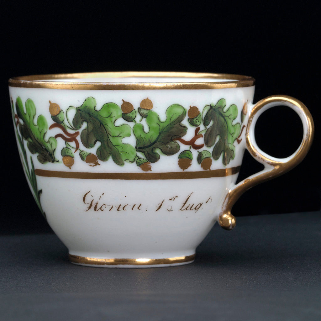 Detail of Teacup, part of a tea service that belonged to Vice-Admiral Horatio Nelson (1758-1805). by unknown