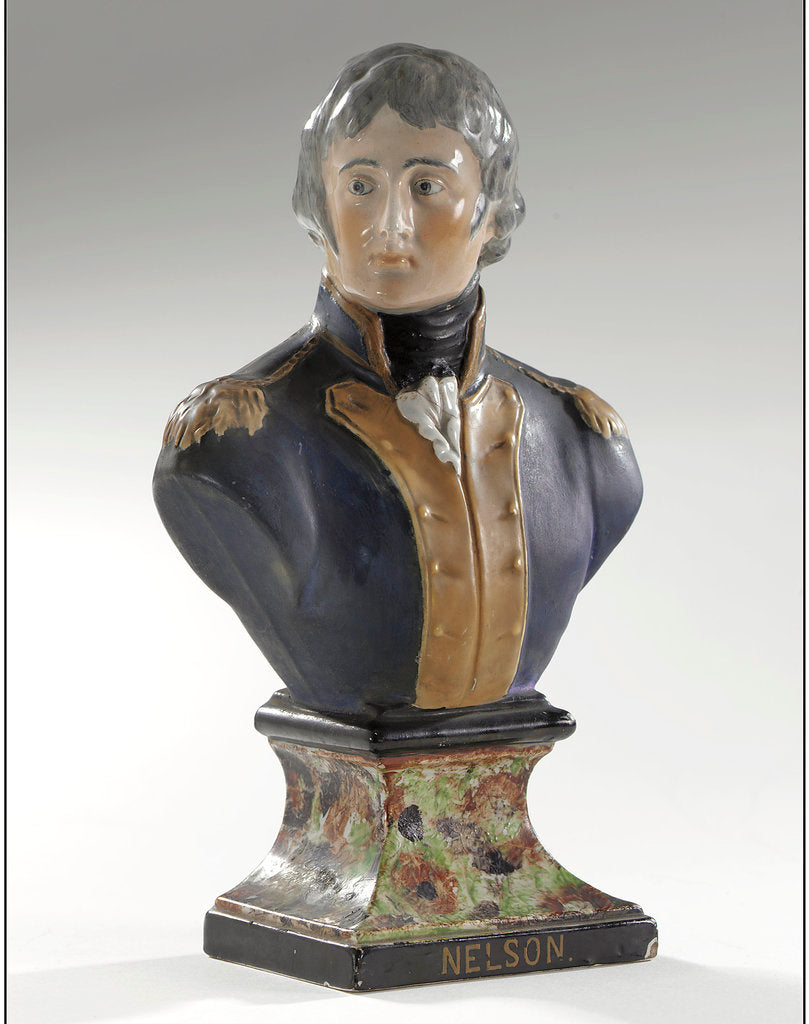 Detail of Bust depicting Vice-Admiral Horatio Nelson (1758-1805) by unknown