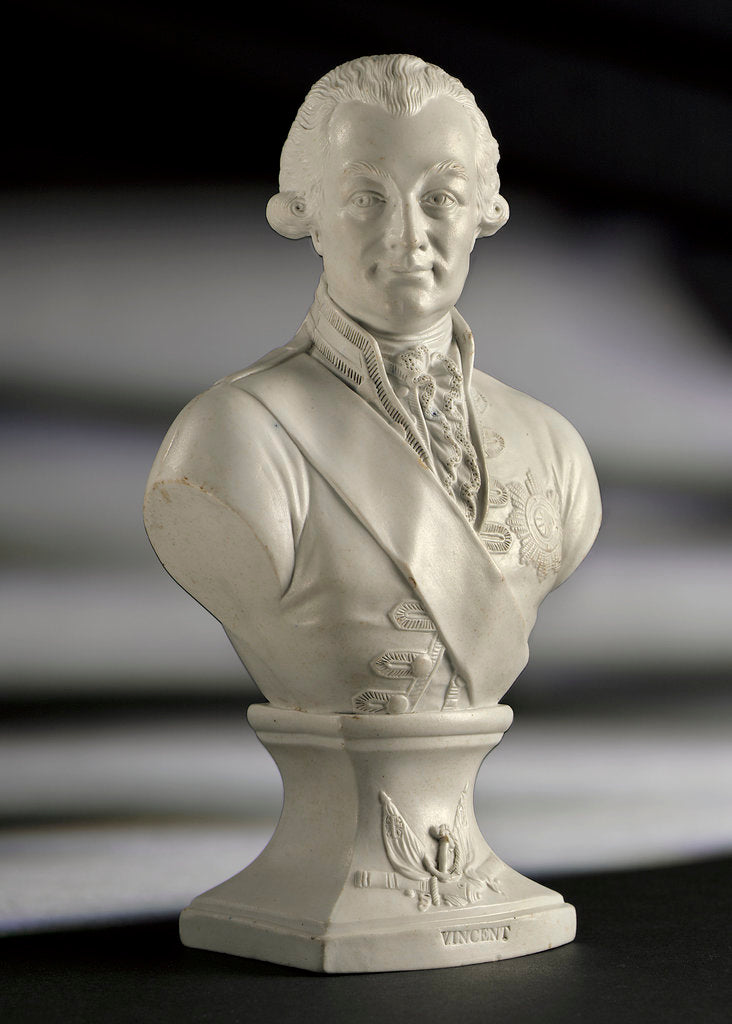 Detail of Bust of Admiral of the Fleet John Jervis, 1st Earl of  St Vincent (1735-1823) by Worthington
