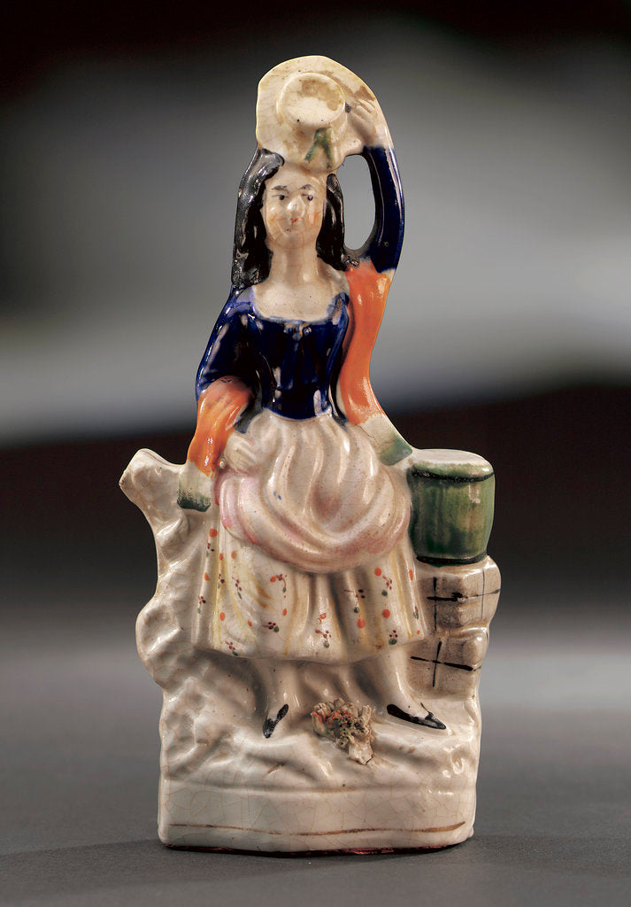Detail of Earthenware figure of a lass by unknown