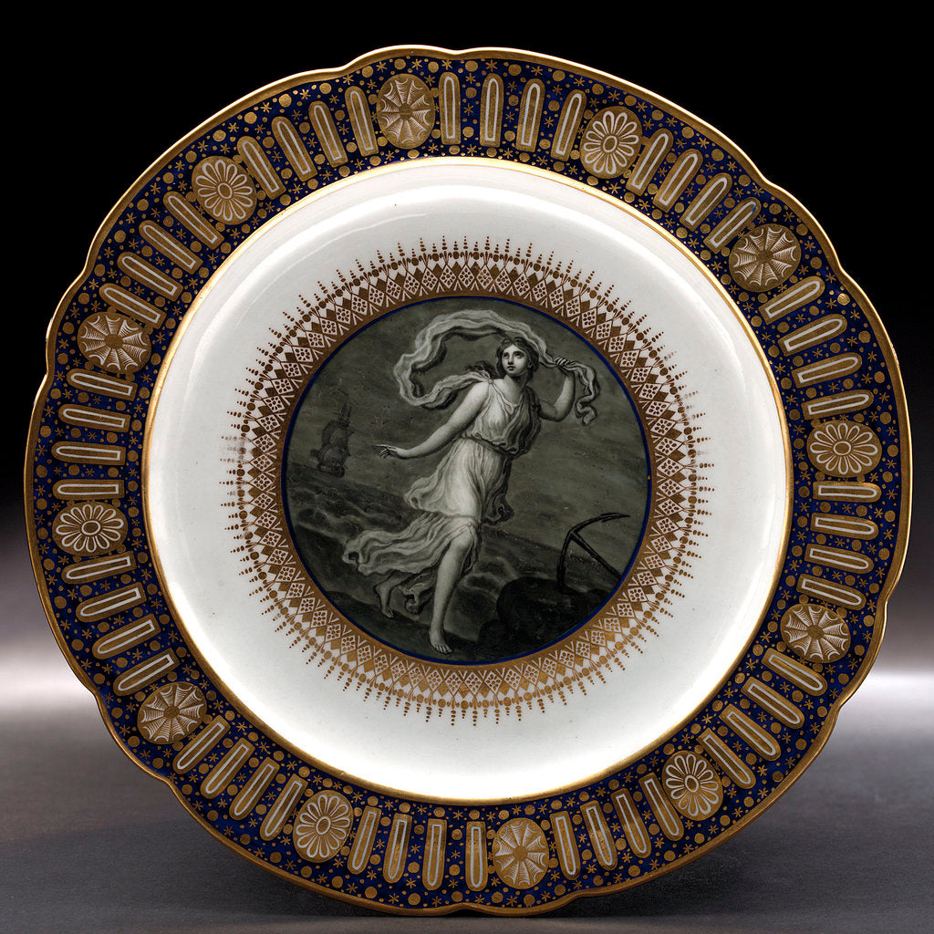Detail of Dinner plate, part of a service belonging to HRH the Duke of Clarence, later William IV (1765-1837) by Thomas Flight