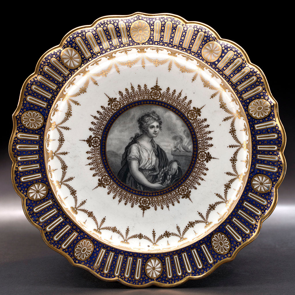 Detail of Porcelain plate by Thomas Flight