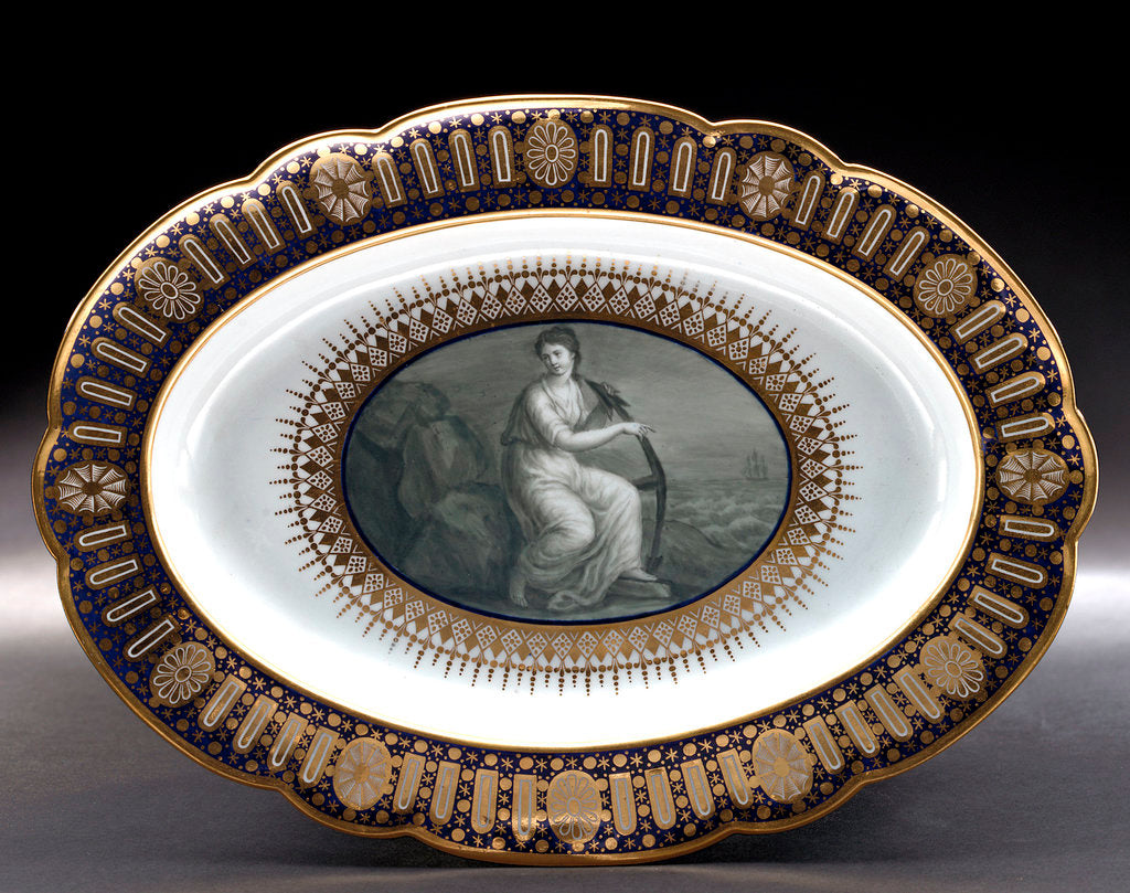 Detail of Dish, part of a service belonging to HRH the Duke of Clarence, later William IV (1765-1837) by Thomas Flight