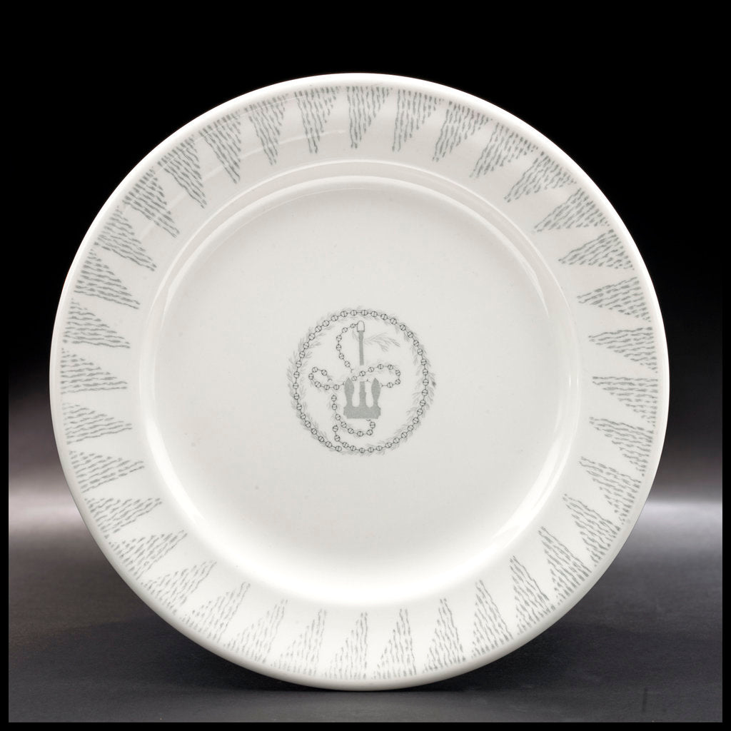 Detail of White plate by Josiah Wedgwood & Sons Ltd.