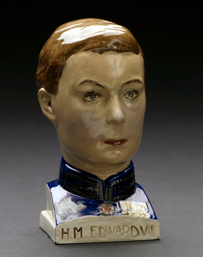 Detail of Earthenware bust by Tooth & Co. Ltd.