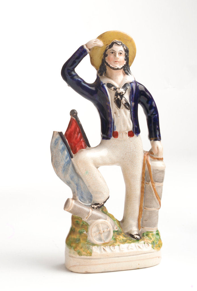 Detail of Earthenware figure of a sailor by unknown