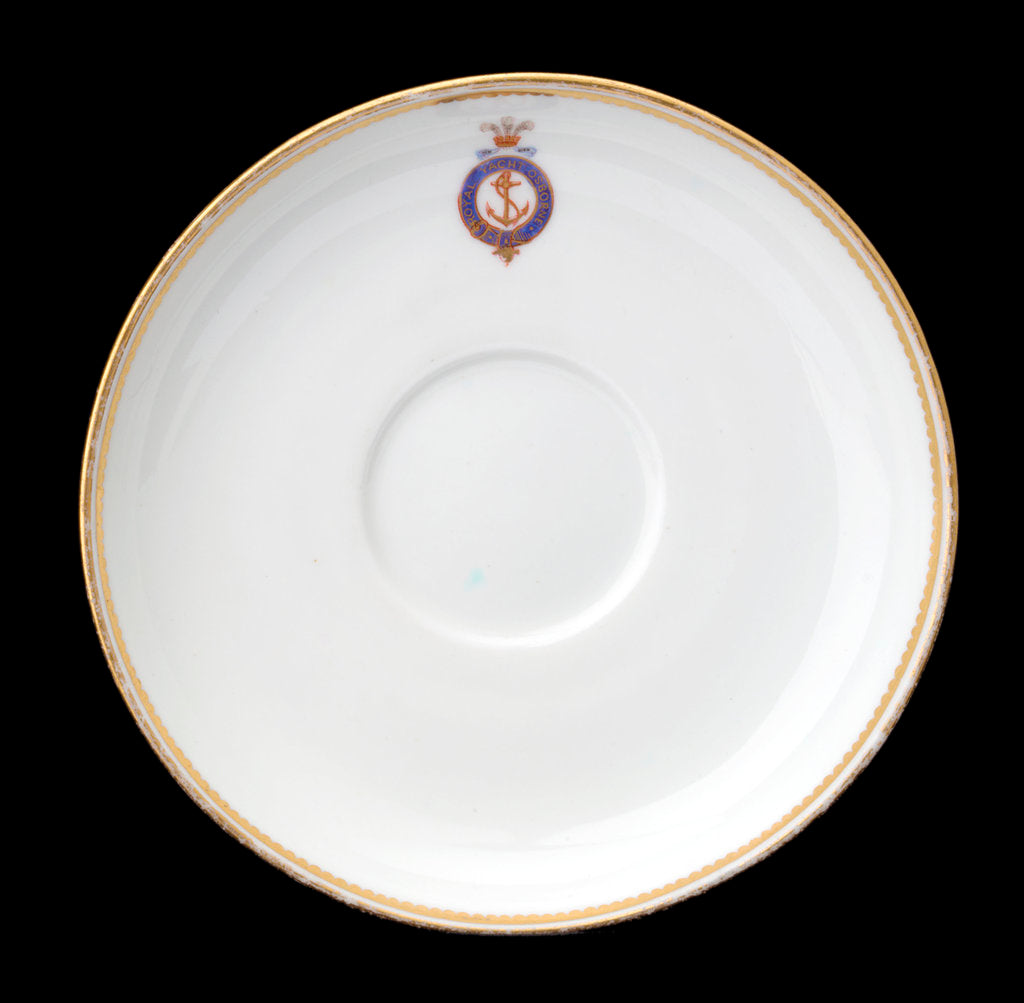 Detail of Saucer used on RY 'Osborne' (1870) by Derby Crown Porcelain Co. Ltd.
