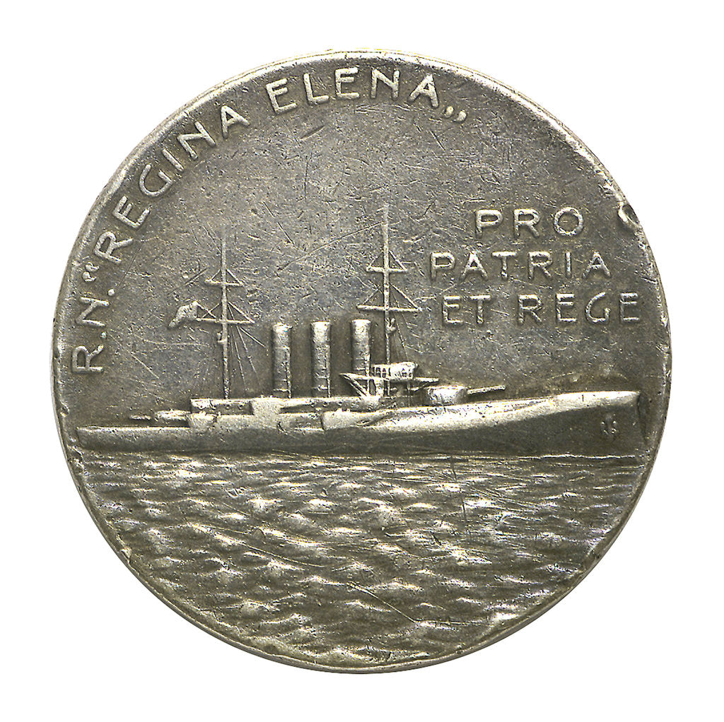 Detail of Medal commemorating 'Regina Elena'; reverse by S.J.