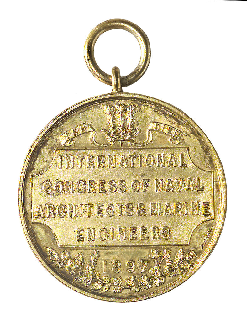 Detail of Medal commemorating the International Congress of Naval Architects & Marine Engineers, 1897; reverse by A. Wyon