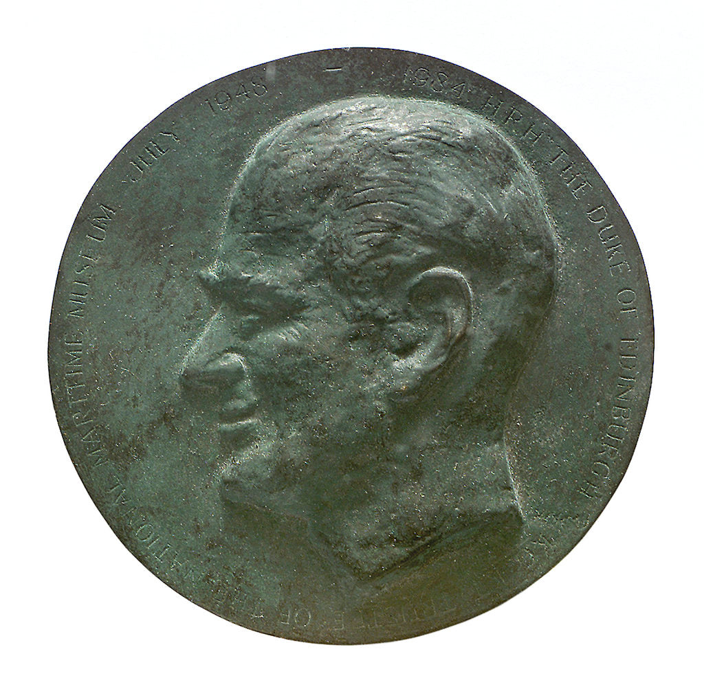 Detail of Commemorative medal depicting HRH The Duke of Edinburgh, NMM Trustee 1948-1984; obverse by unknown