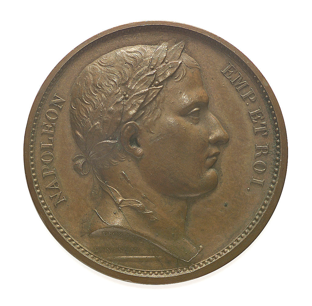 Detail of Medal commemorating the planned invasion of England; obverse by D.V. Denon