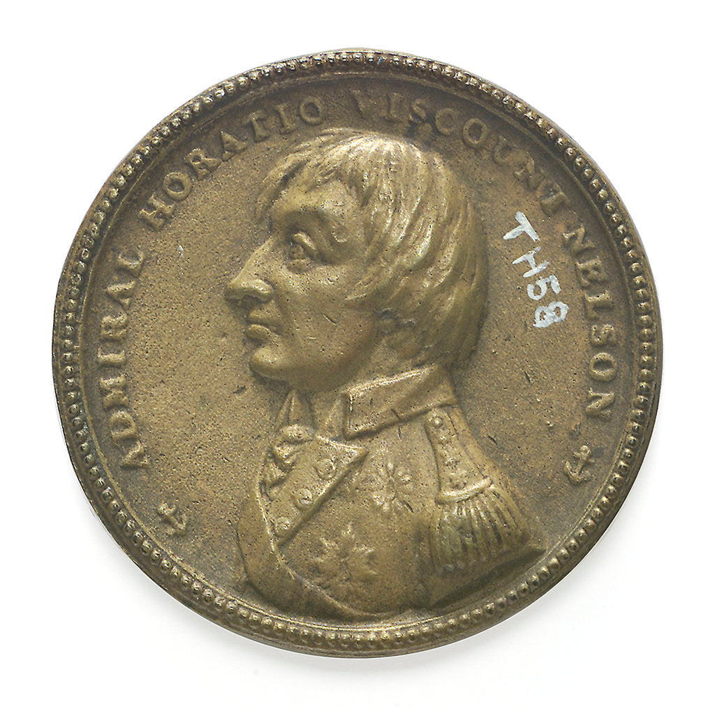 Detail of Medal commemorating Vice-Admiral Horatio Nelson (1758-1805); reverse by F. A.
