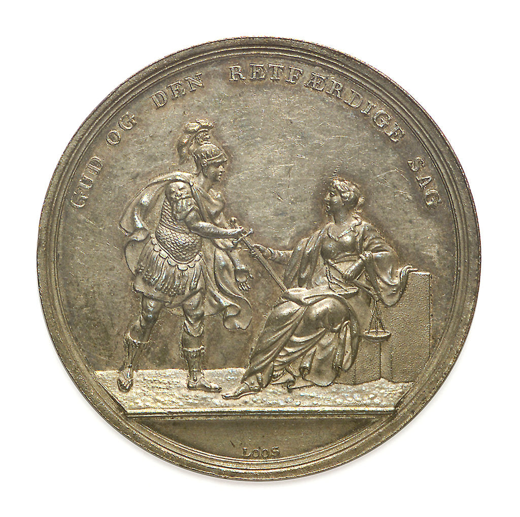 Detail of Medal commemorating the Battle of Copenhagen, 1801; obverse by D.F. Loos