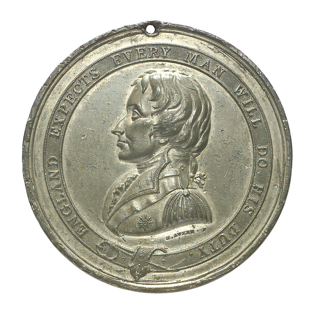 Detail of Commemorative medal depicting the Trafalgar Square Monument; obverse by E. Avern
