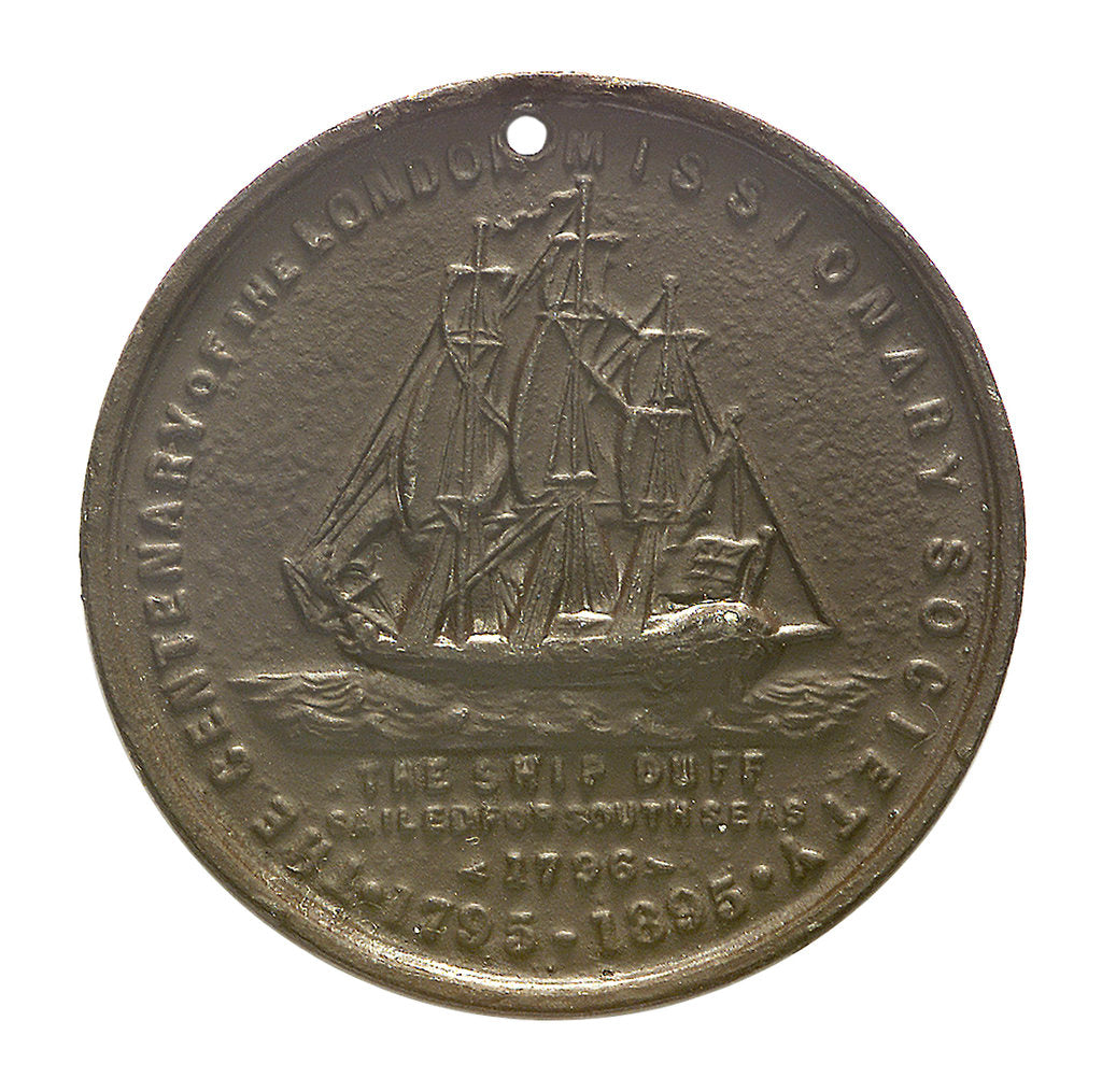 Detail of Medal commemorating the centenary of the London Missionary Society, 1895; obverse by unknown