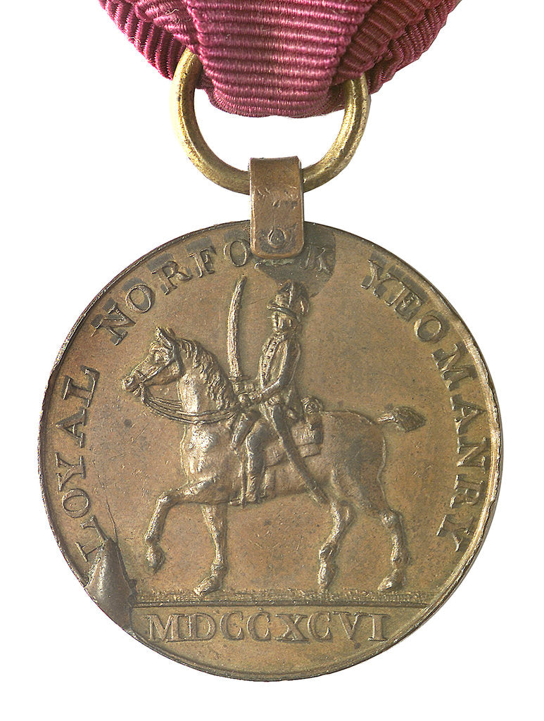Detail of Commemorative medal of the Loyal Norfolk Yeomanry & Blofield Cavalry 1796; obverse by unknown